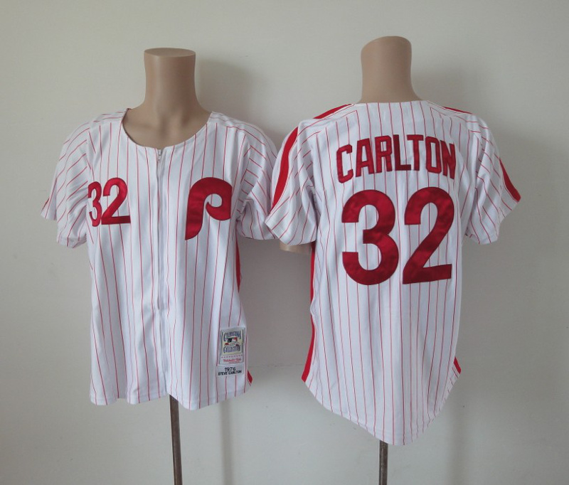 MLB Philadelphia Phillies 32 Carlton White mn Jerseys