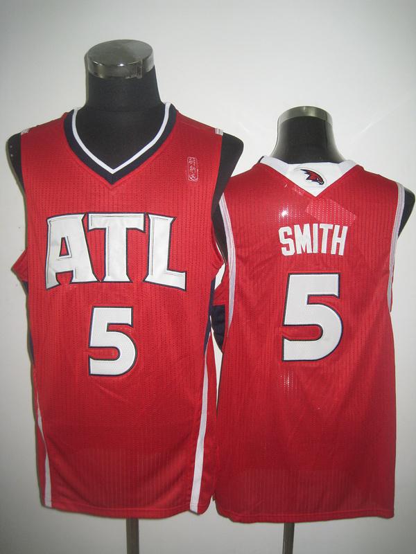 NBA Atlanta Hawks 5 Josh Smith red jersey
