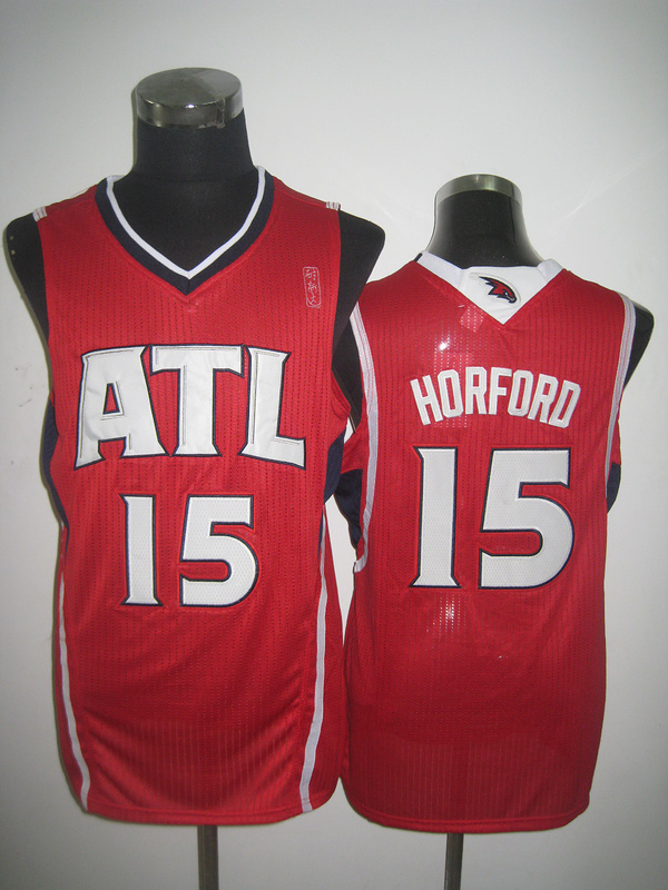 NBA Atlanta Hawks 15 Al Horford red jersey