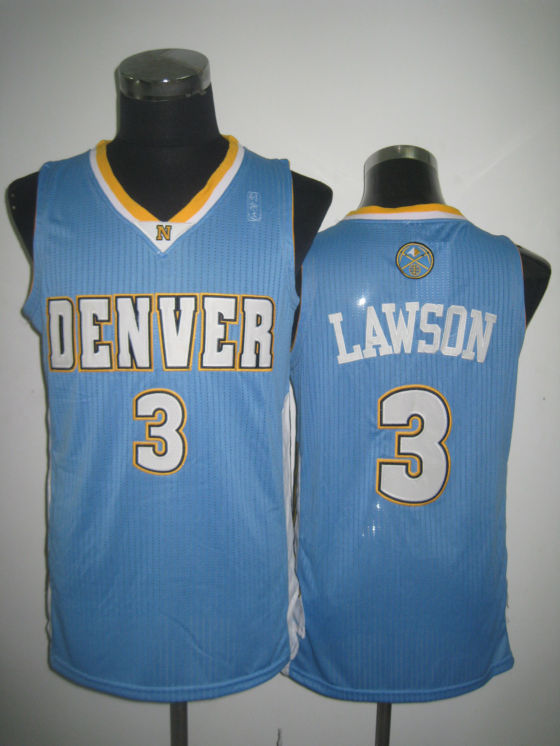 NBA Denver Nuggets 3 Ty Lawson 2013 new material sky blue jersey
