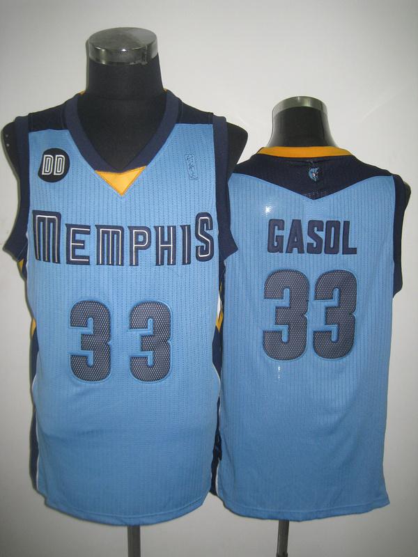 NBA Memphis Grizzlies 33 Marc Gasol Beale Street Blue jersey
