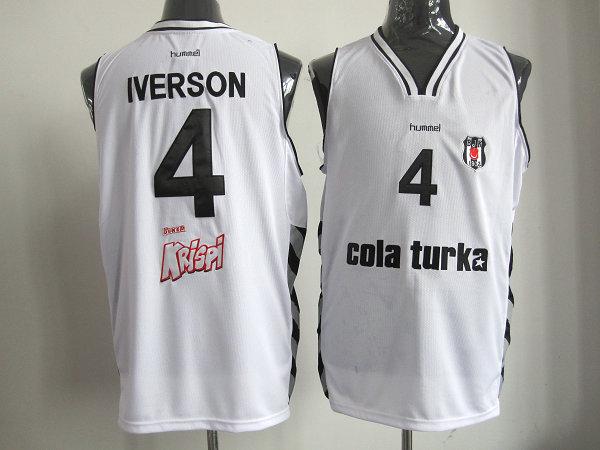 NBA Philadelphia 76ers 4 Allen Iverson Beşiktaş Milangaz white jersey