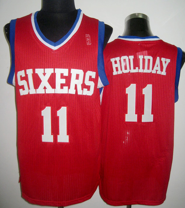 NBA Philadelphia 76ers 11 Jrue Holiday red jersey