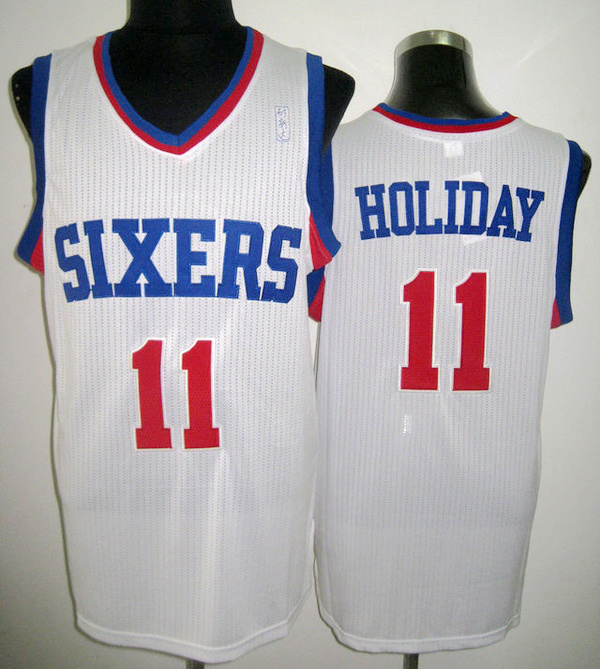 NBA Philadelphia 76ers 11 Jrue Holiday white jersey