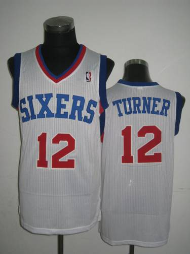 NBA Philadelphia 76ers 12 Evan Turner white jersey