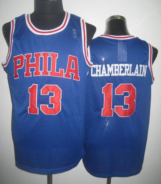 NBA Philadelphia 76ers 13 Wilt Chamberlain 2013 new blue jersey