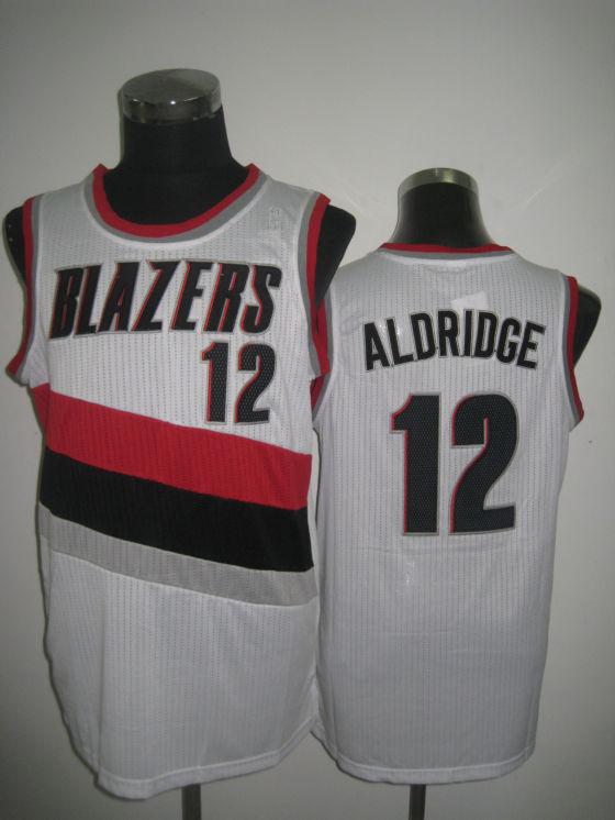 NBA Potland Trail Blazers 12 LaMarcus Aldridge 2013 new material white jersey