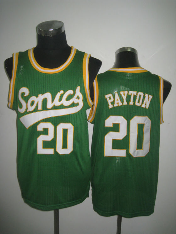 NBA Seattle Supersonics 20 Gary Payton 2013 new Retro throwback green jersey