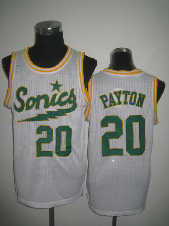 NBA Seattle Supersonics 20 Gary Payton 2013 new Retro throwback white jersey
