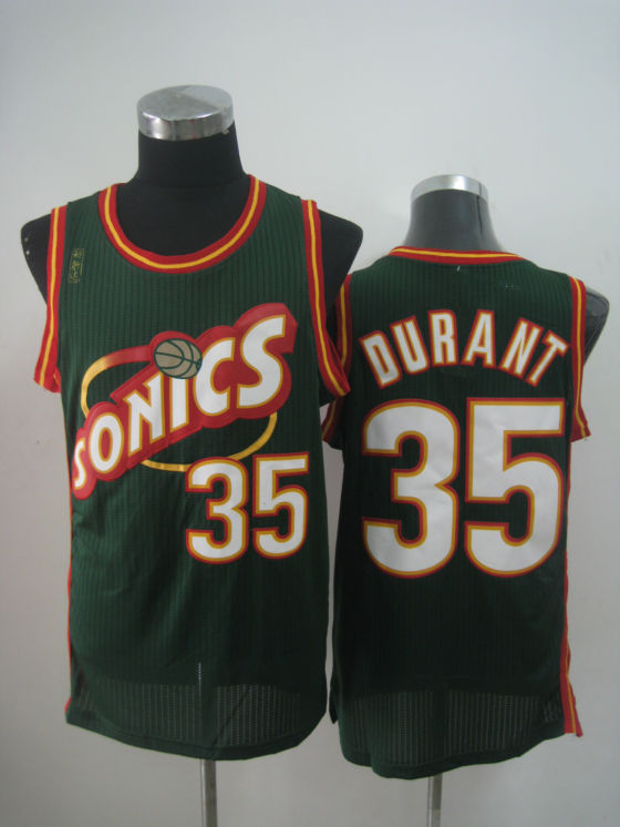 NBA Seattle Supersonics 35 Kevin Durant new material green jersey