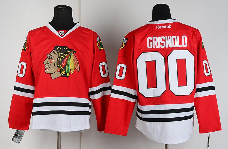 NHL Chicago Blackhawks 00 Clark Griswold Red Jersey
