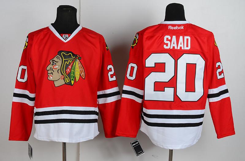 NHL Chicago Blackhawks 20 Saad Red Jersey