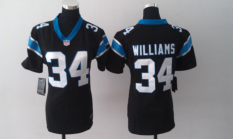Womens Carolina Panthers 34 DeAngelo Williams Black Nike Jersey