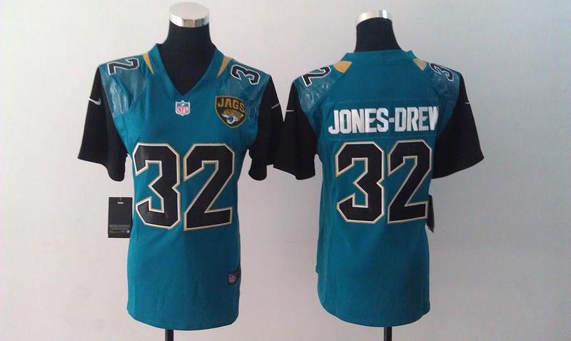 Womens Jacksonville Jaguars 32 Maurice Jones-Drew Blue Nike Jersey