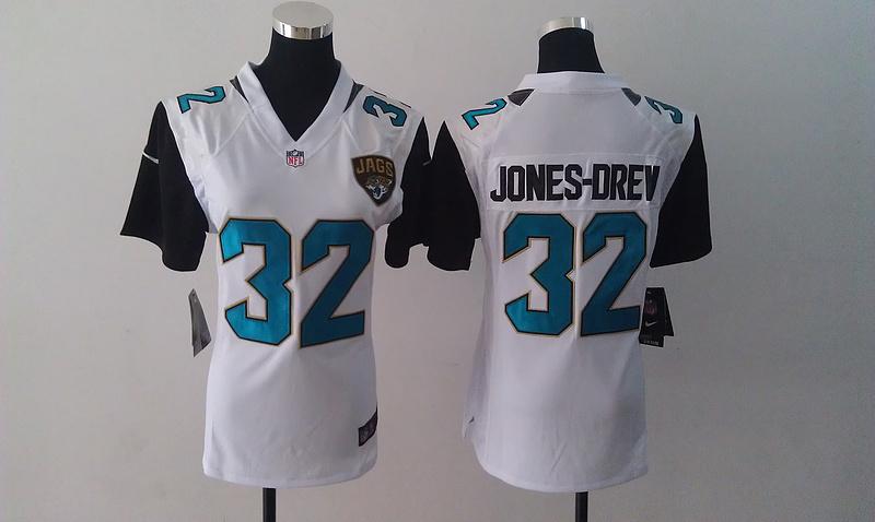 Womens Jacksonville Jaguars 32 Maurice Jones-Drew White Nike Jersey