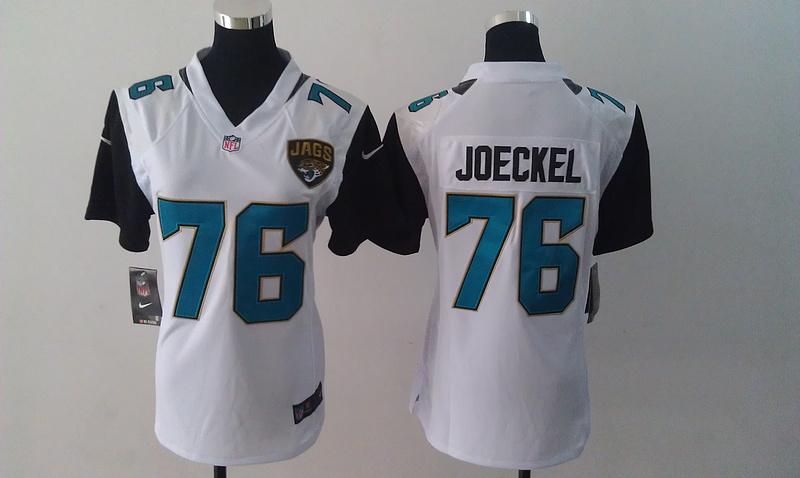 Womens Jacksonville Jaguars 76 Luke Joeckel White Nike Jersey