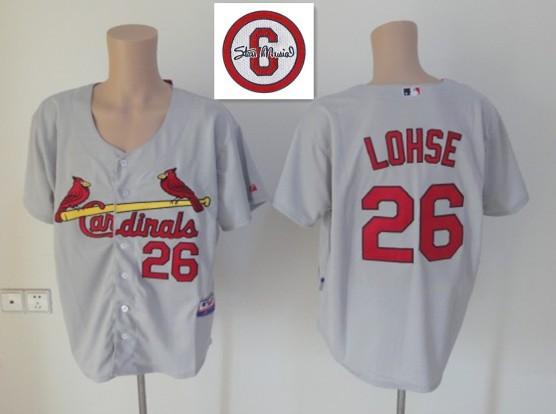 MLB St. Louis Cardinals 26 Kyle Lohse Gray Grey Jersey