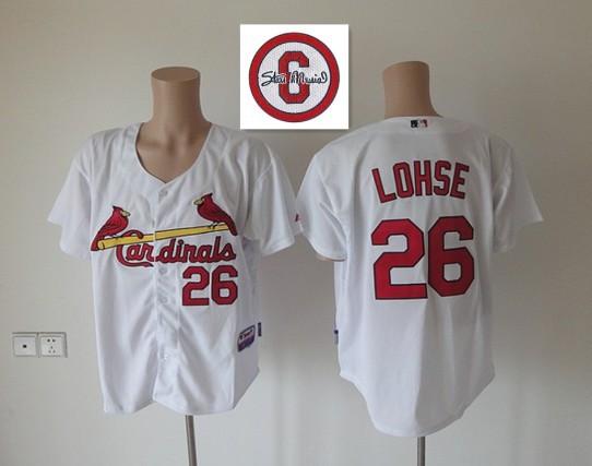 MLB St. Louis Cardinals 26 Kyle Lohse White Jersey