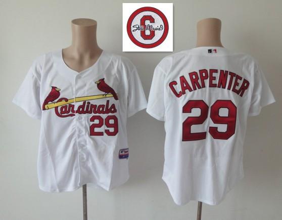 MLB St.Louis Cardinals 29 Chris Carpenter White Jersey