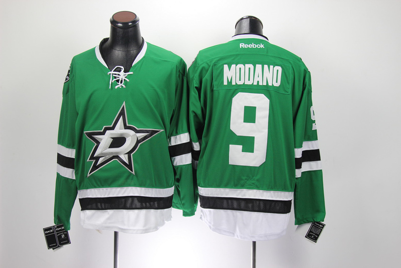 NHL Dallas Stars 9 Mike Modano Green Jersey