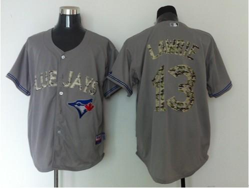 MLB Toronto Blue Jays 13 Brett Lawrie Grey Camo Jersey