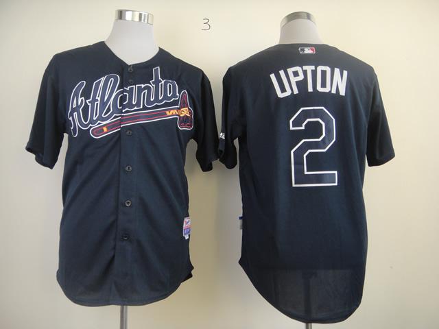 MLB Atlanta Braves 2 B.J. Upton Blue Jersey