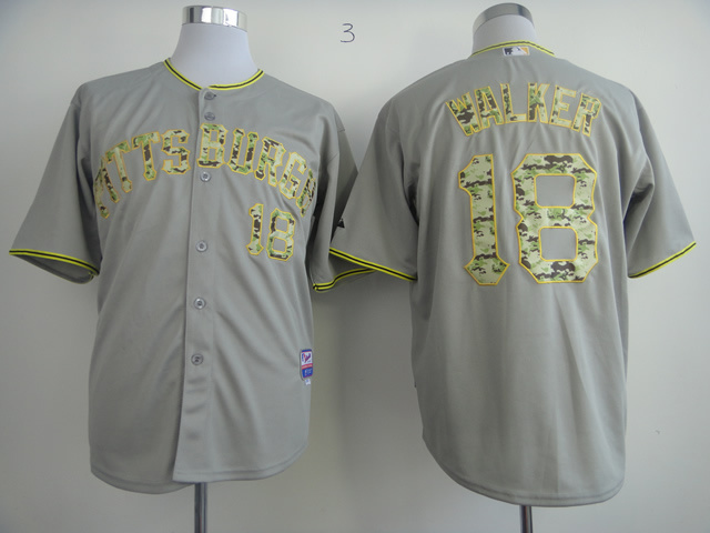 MLB Pittsburgh Pirates 18 Walker Grey Camo Jersey