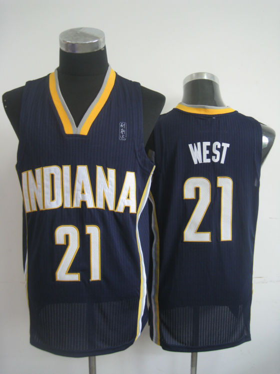 NBA Indlana Pacers 21 West dark blue Jersey