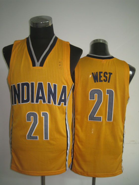 NBA Indlana Pacers 21 West yellow Jersey