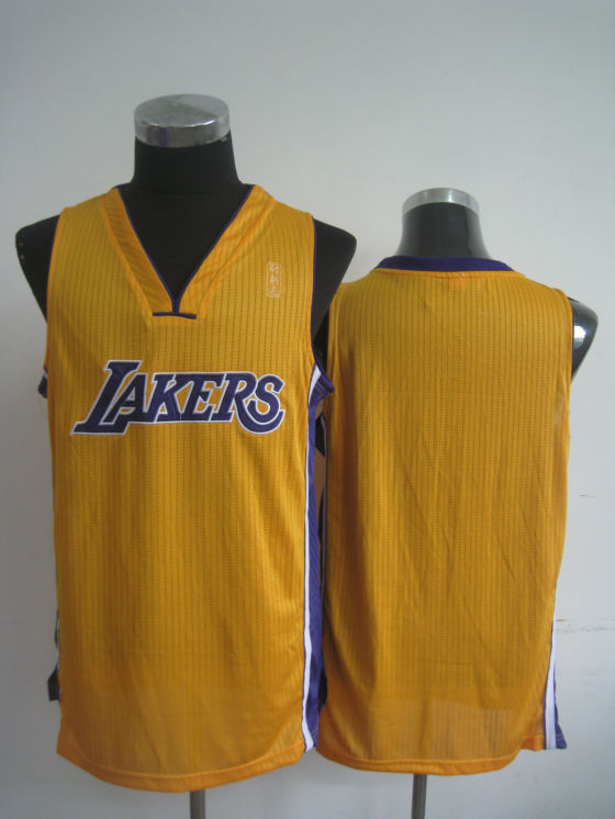NBA Los Angeles Lakers Blank yellow Jersey
