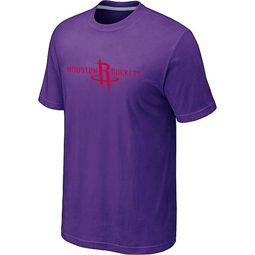 Houston Rockets adidas Primary Logo T-Shirt Purple