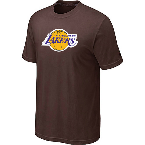 Los Angeles Lakers Big Tall Primary Logo Brown T-Shirt