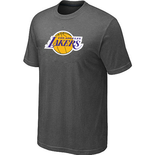 Los Angeles Lakers Big Tall Primary Logo D-Grey T-Shirt