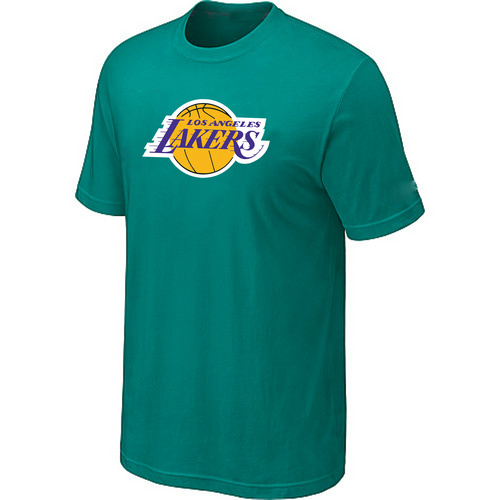 Los Angeles Lakers Big Tall Primary Logo Green T-Shirt