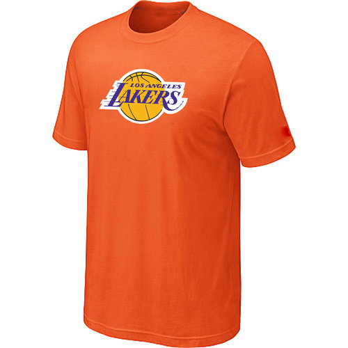 Los Angeles Lakers Big Tall Primary Logo Orange T-Shirt