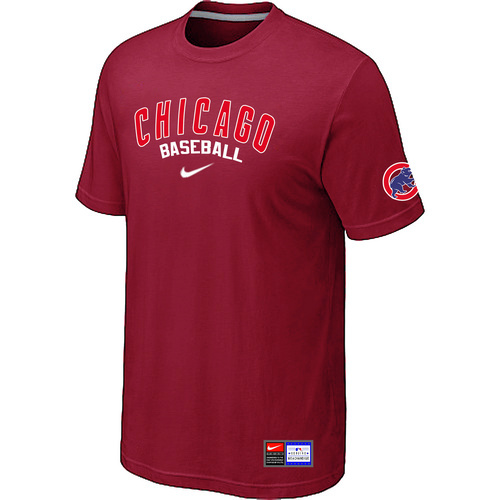 MLB Chicago Cubs Red Nike Short Sleeve Practice T-Shirt