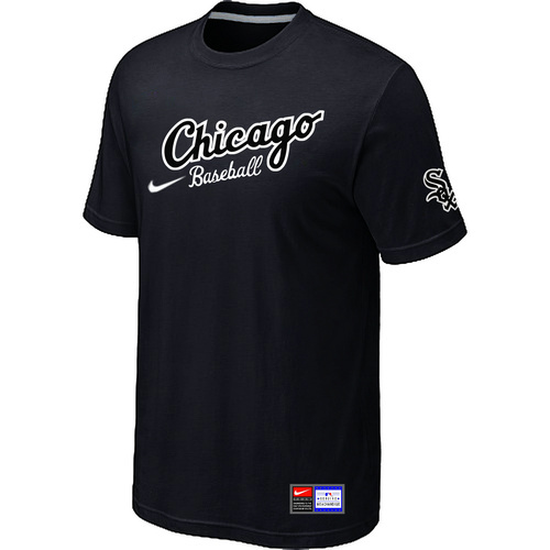 MLB Chicago White Sox Nike Away Practice T-ShirtBlac