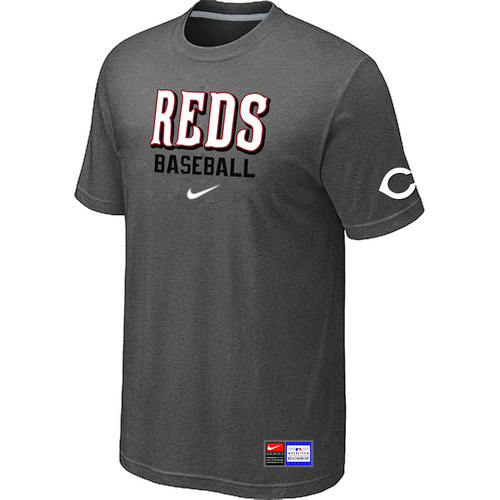 MLB Cincinnati Reds D-Grey Nike Short Sleeve Practice T-Shirt