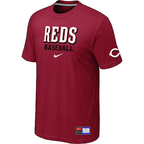 MLB Cincinnati Reds Red Nike Short Sleeve Practice T-Shirt
