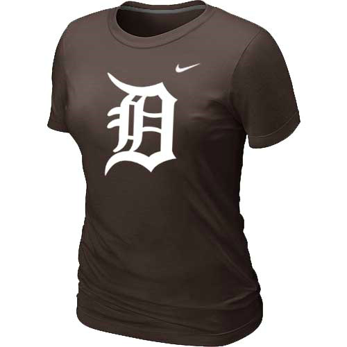 MLB Detroit Tigers Heathered Brown Nike Womens Blended T-Shirt