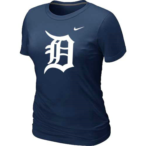 MLB Detroit Tigers Heathered D-Blue Nike Womens Blended T-Shirt