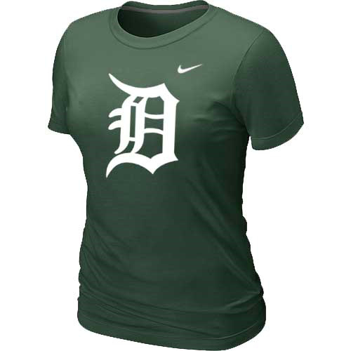 MLB Detroit Tigers Heathered D-Green Nike Womens Blended T-Shirt