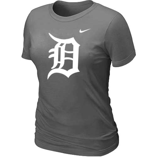 MLB Detroit Tigers Heathered D-Grey Nike Womens Blended T-Shirt