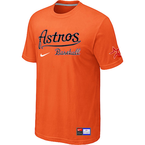 MLB Houston Astros Orange Nike Short Sleeve Practice T-Shirt