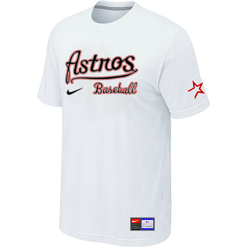 MLB Houston Astros White Nike Short Sleeve Practice T-Shirt