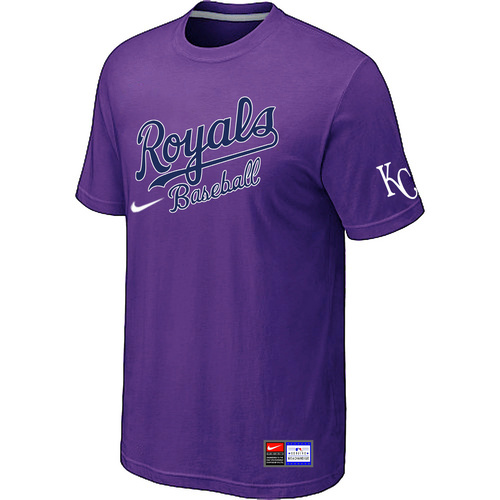 MLB Kansas City Royals Purple Nike Short Sleeve Practice T-Shirt