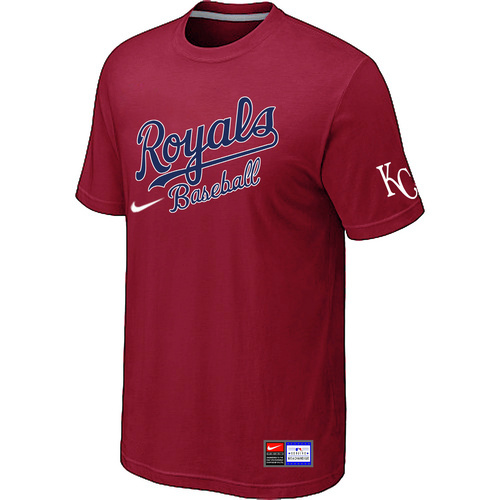 MLB Kansas City Royals Red Nike Short Sleeve Practice T-Shirt