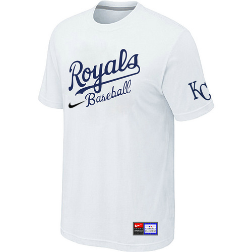 MLB Kansas City Royals White Nike Short Sleeve Practice T-Shirt