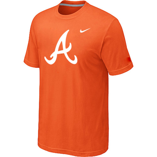 MLB MLB Atlanta Braves Heathered NikeOrange Blended T-Shirt