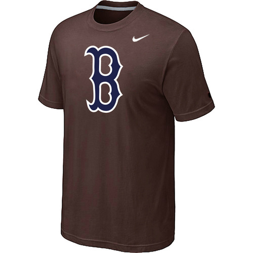 MLB MLB Boston Red Sox Heathered NikeBrown Blended T-Shirt